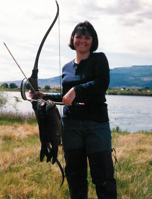 Susan Brezonick Colorado carp fishing